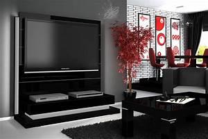 Tv Schrank Mit Rückwand : design tv wand hn 222 schwarz hochglanz led beleuchtung tv rack inkl tv halterung hochglanz tv ~ Bigdaddyawards.com Haus und Dekorationen