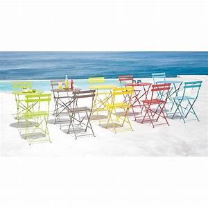 awesome table de jardin ronde jaune pictures amazing With table jardin metal ronde pliante 10 table de jardin bois super u