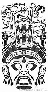 Stock Images Ancient Ceremony Mask Mayan Aztec Vector ...