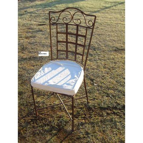 chaise fer forg 233 brieuc coussin compris chaises en fer forg 233 axe industries