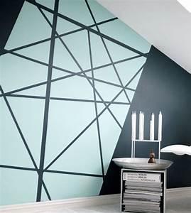 Peinture design sur mur veglixcom les dernieres idees for Peindre salon 2 couleurs 14 la peinture geometrique pour sublimer vos murs daphne