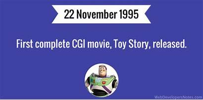Cgi Toy Story Released Complete 1995 November