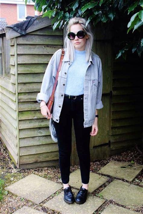 Jacket grunge denim hipster tumblr summer soft grunge blue black white shoes top ...