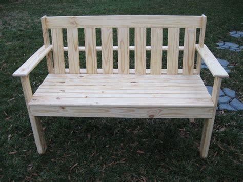 yellow outdoor bench yellow pine garden bench by dan hux lumberjocks