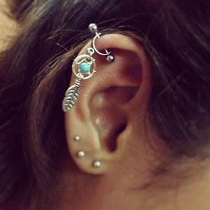 Helix Cartilage Bar Piercing 16g Dream from Azeeta Designs ...