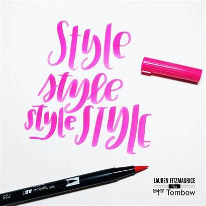 Lettering Hand Tutorials Create Easy Own Tombow
