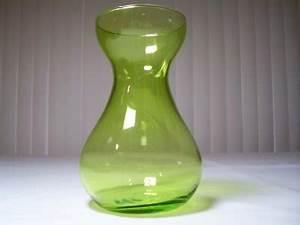 Neon Green Art Glass Handblown Vase Original Smooth Pontil