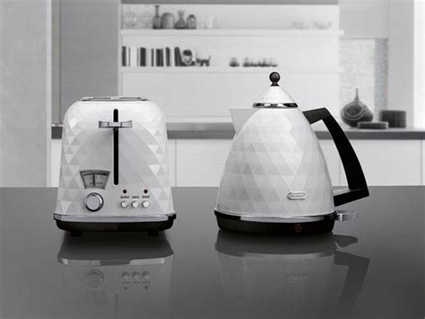 Black and White DeLonghi`s Modern & Elegant Faceted Home