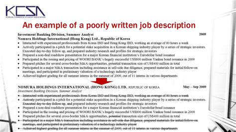 Exle Of A Poorly Written Resume by Resume And Cover Letter Workshop October 2013