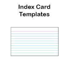 printable index card templates    blank pdfs