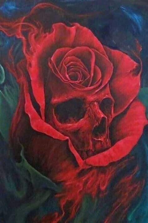 ideas  skull rose tattoos  pinterest skull  rose drawing skulls  roses
