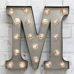 39m39 led carnival light by rocket rye for Letter m light