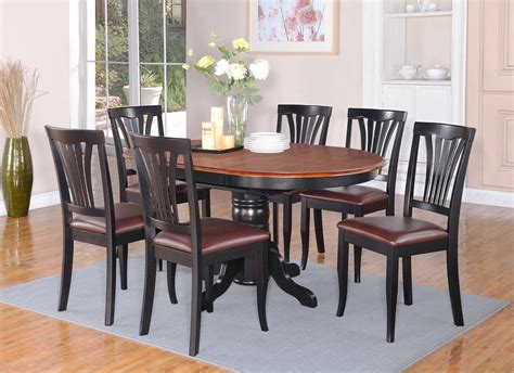pc avon dinette kitchen dining set oval table  leather