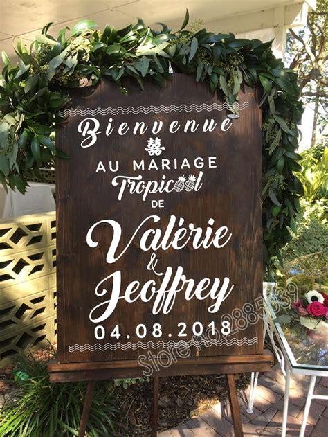 Bienvenue Wedding Sticker New Design French Welcome Sign ...
