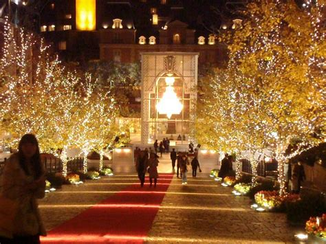 the christmas lights of tokyo