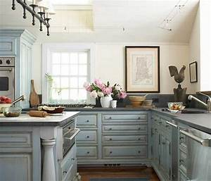 shabby chic kitchen cabinets with blue color ideas home With kitchens with blue in it
