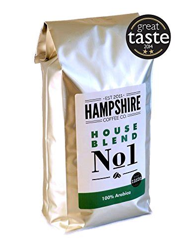 We used only wholebean coffees for our taste test, as grinding right before brewing produces the best flavour results. Hampshire Coffee Co - House Blend No 1- Great Taste Award Winner 2014 - Coffee Beans 1kg Bag ...