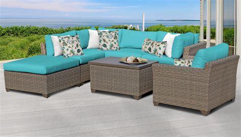 tk classics monterey  piece outdoor wicker patio furniture set