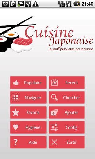 appli cuisine android bonjour appli cuisine japonaise android mt