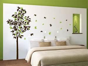 Baum Für Wohnzimmer : wandtattoo ahorn zweifarbig mit laub bei ~ Michelbontemps.com Haus und Dekorationen