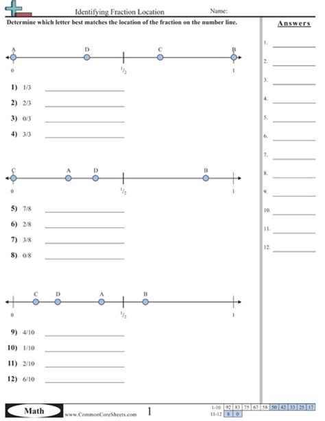 estimating fraction worksheet and lots of common core sheets math number operations