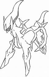 Pokemon Coloring Legendary Arceus Line Rare Drawing Sheets Drawings Simple Mythical Colouring Printable Google Para Draw Colorir Coloriage Pokémon Desenho sketch template