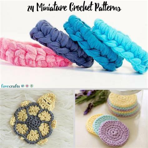 craft crochet ideas 24 miniature crochet patterns favecrafts 1471