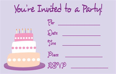 printable birthday invite design bagvania