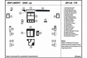 2012 Jeep Liberty Dash Kits