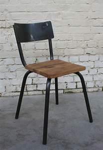 Chaise Style Industriel : chaise cec 39 ch003 giani desmet meubles indus bois m tal et cuir ~ Teatrodelosmanantiales.com Idées de Décoration