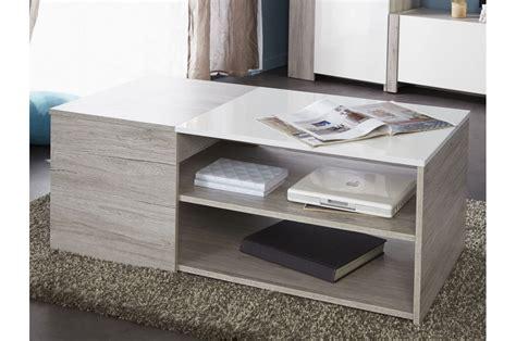 table basse rectangulaire pas cher gris blanc