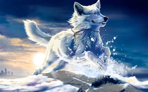 Anime Wallpaper Wolf by Cool Anime Wolf Wallpapers 56 Images
