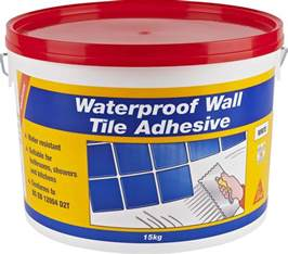 Tile Adhesive Remover Paste by Sikaceram Waterproof Wall Tile Adhesive Everbuild