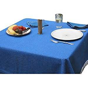 stayput non slip square patio tablecloth with umbrella