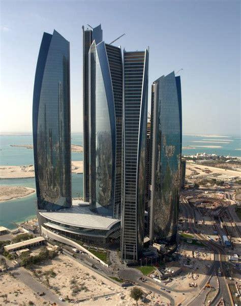 Futuristic Architecture Etihad Towers Abu Dhabi Future
