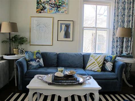 Blue Sofa Living Room Ideas Brokeasshome