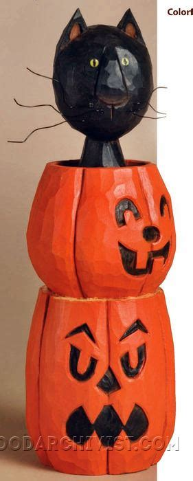 halloween cat wood carving patterns woodarchivist