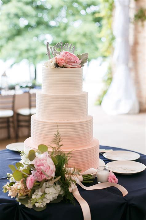 Pink Ombre Buttercream Wedding Cake