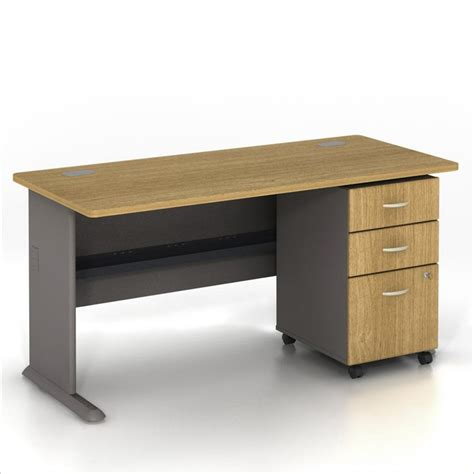 oak computer desk with drawers bush bbf series a 60 quot computer desk with 3 drawer file