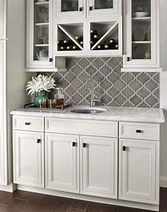 1000 ideas about subway tile backsplash on pinterest With kitchen cabinets lowes with white ceramic birds wall art