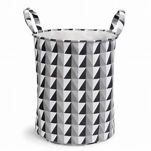 Panier A Linge Noir : panier linge en tissu noir blanc graphique maisons du monde ~ Teatrodelosmanantiales.com Idées de Décoration