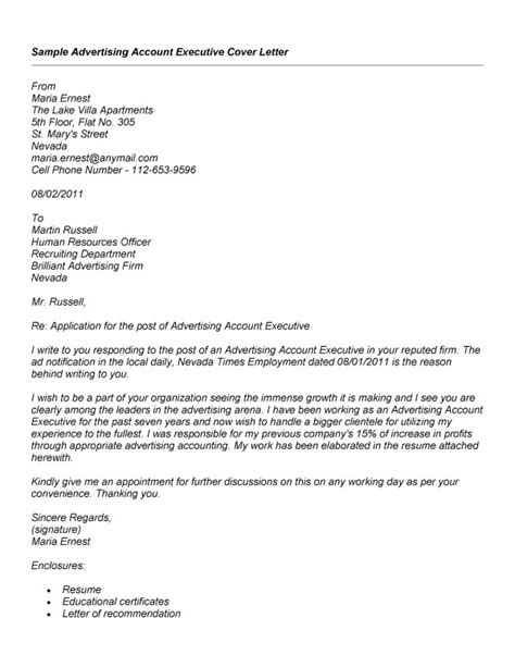 Account Manager Cover Letter Exles For Recruiters by Account Manager Cover Letter Exles For Recruiters