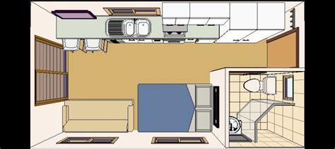 granny estudio plana vista desde arriba casas container