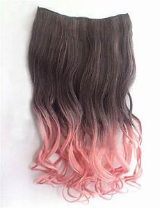 Brown Pink Ombre Clip In Extension by ginabarto on Etsy ...
