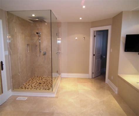 master ensuite bathroom design glass shower water