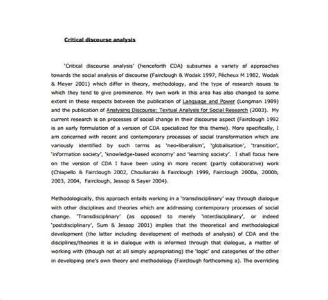 sample critical analysis templates  google docs ms word pages