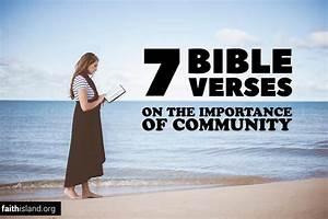 7 bible verses on the importance of community faith island