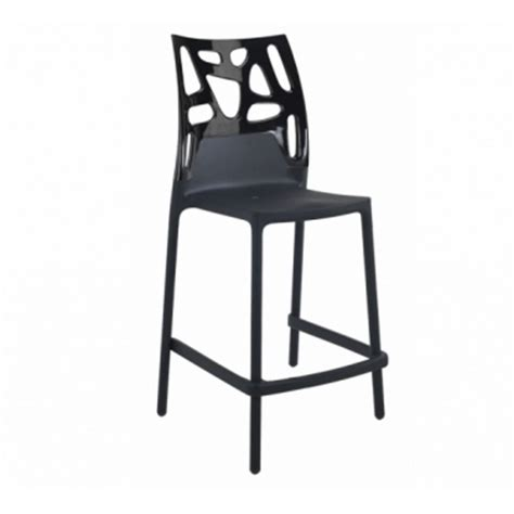 chaise de bar assise 65 cm tabouret bar ht assise 65 cm ego rock noir