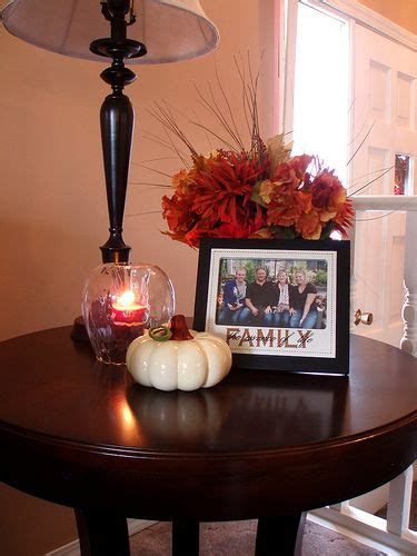 Decorating Ideas For End Tables by How To Decorate End Tables Fall Centerpiece For The