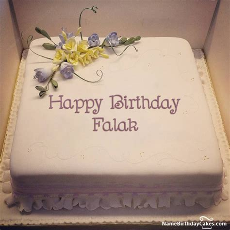 happy birthday falak cakes cards wishes